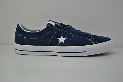 ea8f5d245674af Mens Converse One Star Ox Suede Skate Shoes Size 11.5 Navy Blue White  149867C