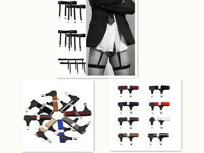 1Pair Men Garter Belt Leg Suspenders Shirt Braces Elastic Strap Non-slip
