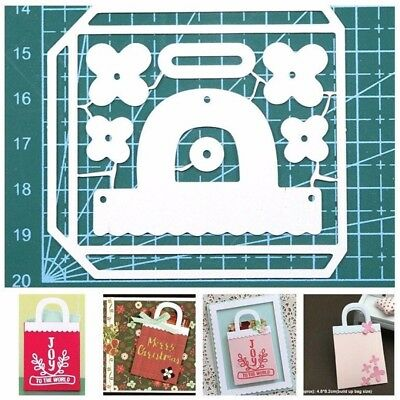 Hand Bag Metal Silver Cutting Dies Stencils Scrapbooking Paper Card DIY Craft