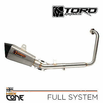 Toro Hex Cone Stainless/Carbon Full Exhaust System - Yamaha YZF-R125 08-13