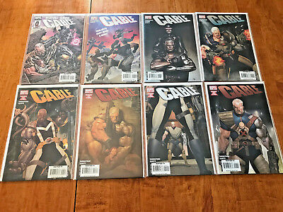 CABLE #1, 2, 3, 4, 5, 6, 7 & KING-SIZE #1  MARVEL COMICS LOT Divided we Stand