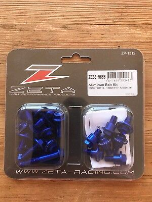 New Yamaha Yzf 250 / 450 2014 -2018 Zeta Blue Aluminum Plastic Bolt Kit Mx