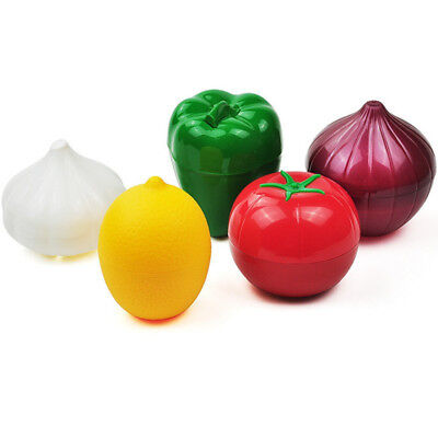 Avocado Onion Tomato Crisper Sealed Box Fruit Vegetable Fresh Saver Bowl Keeper
