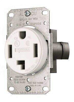 Hubbell Wiring 459314 Range And Dryer Receptacle 30 Amp 3 Pole 4 Wire White