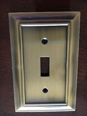 Brainerd Architectural Single Switch Toggle Wall Plate Antique Bronze Free Ship