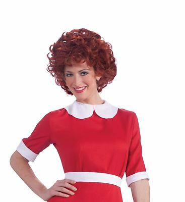 Little Orphan Annie Red Costume Wig Adult One Size