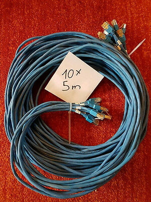 10x Cat.5e FTP Kabel 5 m Blau Patchkabel LAN DSL Netzwerkkabel Network Cable
