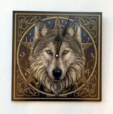 Lisa Parker Wolf Wildlife Hanging Home Wall Clock