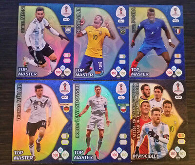 Serie Complete Top Master Russia 2018 Panini Adrenalyn Xl Fifa World Cup Messi
