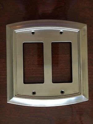 Brainerd Arched Double Decorator Satin Nickel Outlet Wall Plate Free Ship