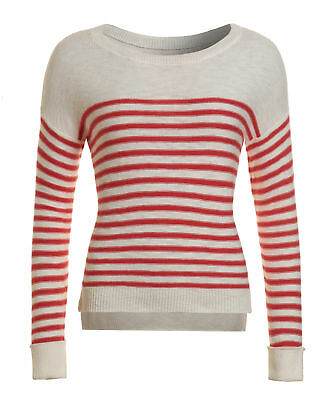 New Womens Superdry Factory Second Breton Icarus Knit White