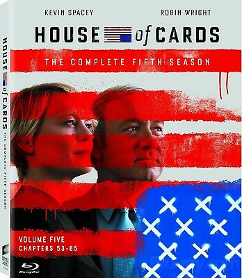 House of Cards: Season Five (Blu-ray Disc, 2017) NEW