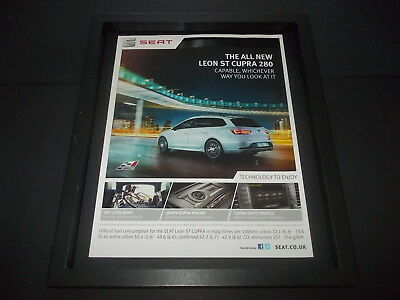 Seat Leon ST Cupra 280-original advert framed