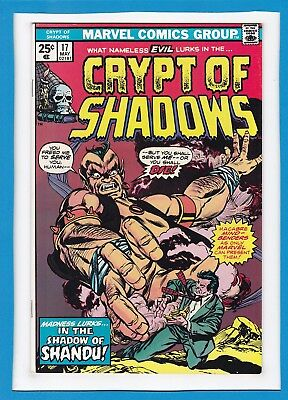"""Crypt Of Shadows #17_May 1975_Vf+_""""in The Shadow Of Shandu""""_Bronze Age Horror!"""