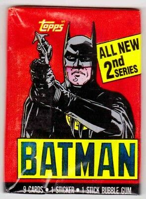 BATMAN SERIES 2 (Topps, 1989 Movie)--Wax Pack (s) / Batman Wrapper^