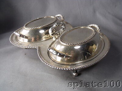 Hallmarked Silver Plate Double Vegetable Dish Nice Quality