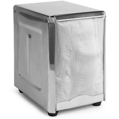 Spring-Load Stainless Steel Low-Fold Napkin Dispenser for Restaurants & Home