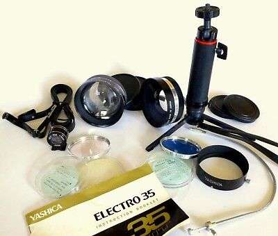 X Clean Electro 35 Accessory Kit. Tele & Wide Angle Lens, Tripod, Eyepiece, More