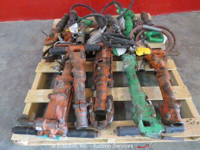 Lot of (11) Misc APT Pneumatic Demolition Breaker Air Jack Demo Hammer bidadoo