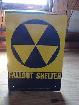 "Fallout Shelter 10""x14"" warning sign"