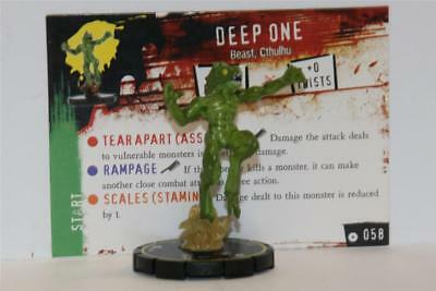 WIZKIDS HEROCLIX HORRORCLIX # 058 DEEP ONE Rare W/CARD
