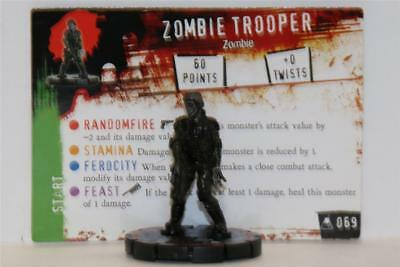 WIZKIDS HEROCLIX HORRORCLIX # 069 The Lab Zombie Trooper Rare W/CARD
