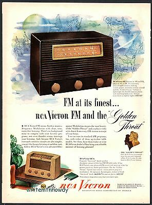 1949 RCA VICTOR Antique Plastic Tube Radio PRINT AD Model 84995 and 8R76