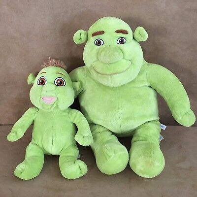 Shrek & Baby Build A Bear Plush the third lot set ogre one of the triplets child