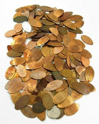 Dozens of Elongated Pennies & Pressed Cents Unsorted Variety Lot - True Auction