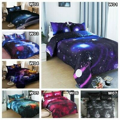 Galaxy Doona/Quilt/Duvet Cover Set Double/Queen/King Size Bed Linen Pillowcase