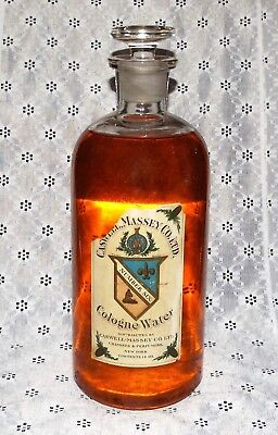 "VINTAGE PERFUME COLOGNE Caswell Massey Number Six 12"" APOTHOCARY DISPLAY BOTTLE"