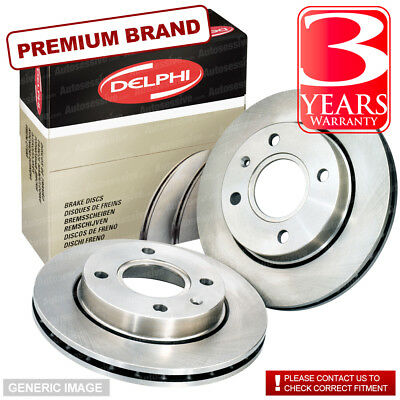 Front Vented Brake Discs Renault Laguna 3.0 dCi Coupe 2008-13 235HP 320mm