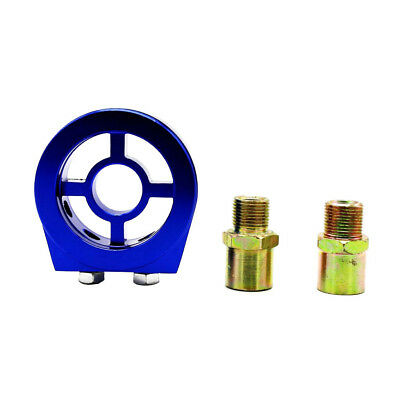 Car AN10 Oil Filter Relocation Cooler Sandwich Adapter Kit M20x1.5 3/4 Blue
