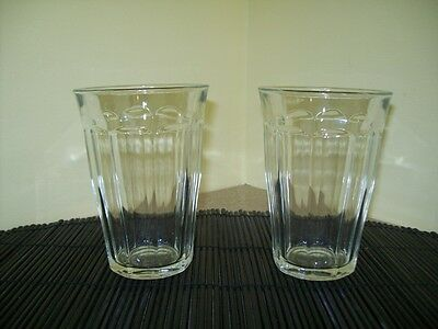 Vintage Duralex France Glass Water/Beverage 12 0z. Glasses/Tumblers (Set of 2)