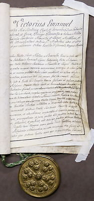 Documento Manoscritto Patente - Autografo Vittorio Emanuele I di Savoia - 1816
