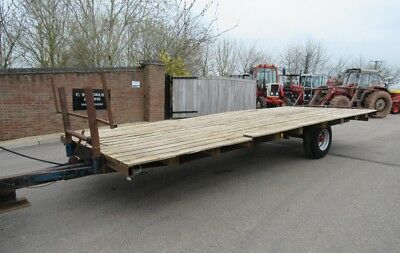 Bale Trailer Single Axle Brakes And Led Lights