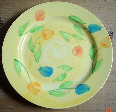 BHS Portuguese Made Side Plate Yellow Flowers