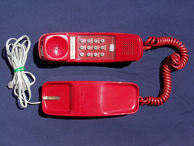 Bell System Western Electric Trimline Telephone - Red Phone - Works Great!