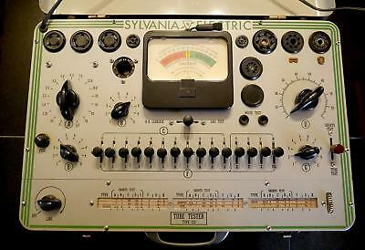 Sylvania Type 220 Tube Tester - Vintage - Beautiful! Please Read  - AS-IS -