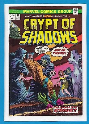 """Crypt Of Shadows #11_July 1974_Vf Minus_""""the Ghouls In My Grave""""_Bronze Horror!"""
