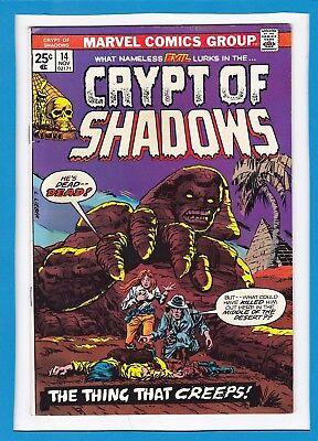 """Crypt Of Shadows #14_Nov 1974_Very Fine+_""""the Thing That Creeps""""_Bronze Horror!"""