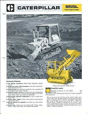 Equipment Brochure - Caterpillar - 955L - Track-Type Loader - 1974 (E4422)