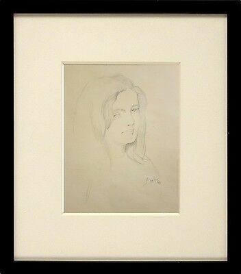 *Superb* Wonderful Pencil Drawing of A Beautiful Girl Signed - Balthus