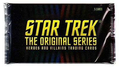 STAR TREK TOS HEROES & VILLAINS (Rittenhouse, 2013)--Unopened Pack (s)^