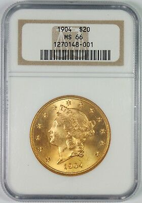 1940 $20 Gold Liberty Head Double Eagle Coin NGC MS66
