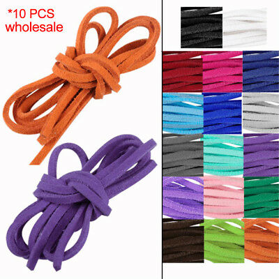 Necklace Leather Craft Cord Soft Faux Suede Thong Lace Ropes Thread String 10pcs