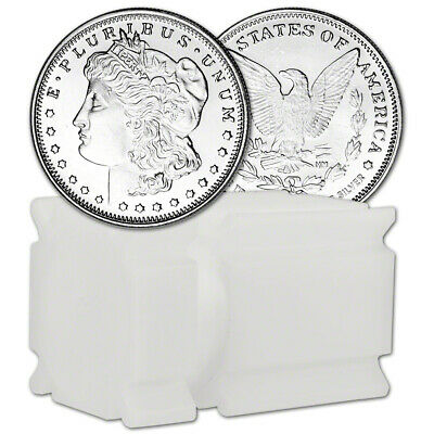 TWENTY (20) 1/2 oz. Highland Mint Silver Round Morgan .999  Roll Tube of 20