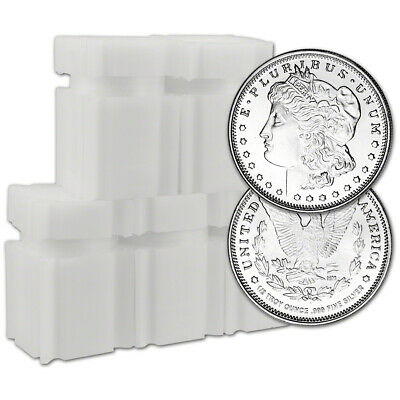 100 pc. 1/2 oz. Highland Mint Silver Round Morgan .999  5 Rolls Tubes of 20