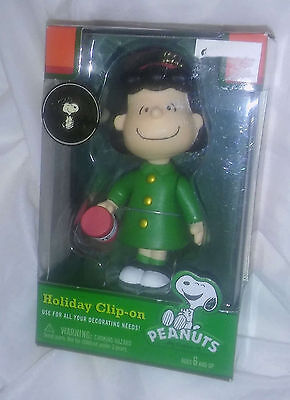 New Peanuts Charlie Brown LUCY Christmas Ornament / Clip On 60 Yrs Anniversary