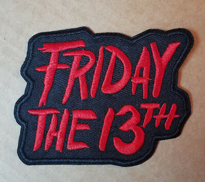 Friday The 13th Logo embroidered Patch 3 1/2 inches wide